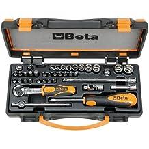 Beta 9000971 - Socket set 900 / c11 pulgada cuadrada con carraca reversible, 36 piezas que, 1/4, 00