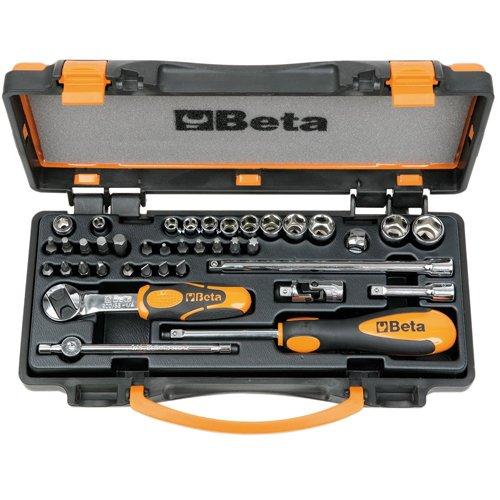 BETA 009000971 Steckschlüssel-Satz 900/C11 1/4″ vierkant mit Umschaltknarre 36-teilig