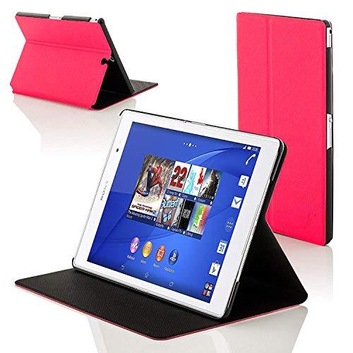 sony xperia z3 tablet Forefront Cases® Sony Xperia Z3 Tablet Compact 8 inch SGP611 Smart Custodia Caso Case Cover Conchiglia - Ultra Sottile con Protezione Dispositivo Completa e funzione Auto Sveglia/Sonno (ROSA)