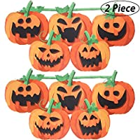 Halloween Pumpkin Bunting 59 Inches Pumpkin Bunting Flag Banner Funny Pumpkin Flag for Party, Outdoors