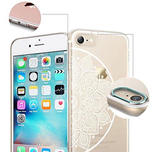 finoo | iPhone 6 / 6S Handy-Tasche Schutzhülle | ultra leichte transparente Handyhülle aus flexiblen Silikon | stylisches TPU Cover Case mit Motiv | King one schwarz Kringel Henna 4