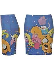 Hora de aventuras Tubo Falda para mujer azul/amarillo carácter Mini falda, azul, S