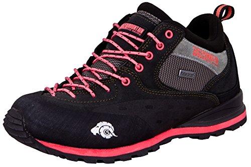GUGGEN Mountain PT022 Damen Wanderschuhe Trekkingschuhe Outdoorschuhe Wanderstiefel Walkingschuhe wasserdicht mit Membran und Wildleder Farbe Schwarz-Pink EU 38
