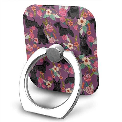 Nicegift Scottie Dog Florals Phone Ring Stand Holder - Cell Phone Ring Holder Finger Grip 360 Degree Rotation -