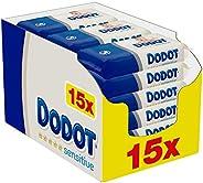 Dodot Toallitas Sensitive para Bebé, 810 Toallitas, 15 Paquete (15x54), Óptima Protección para la Piel de Dodo