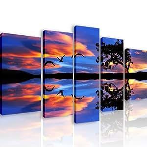 47 special fly 5 quadri moderni 110x60 cm stampa digitale su tela ideale per arredo - Quadri per casa moderna ...