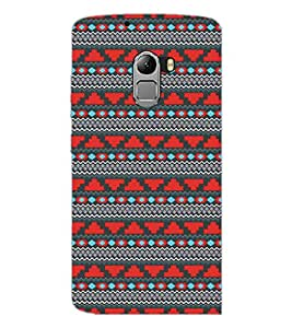 PrintDhaba Tribal Pattern D-5470 Back Case Cover for LENOVO K4 NOTE A7010a48 (Multi-Coloured)