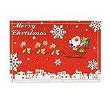 fdswdfg221 Cartone Animato Dipinto Sfondo Rosso, Fiocchi di Neve Bianchi, Suzuka Giallo, aliante Rosso, casa Bianca, Babbo Natale Che Indossa Un Abito Rosso, Buon Natale