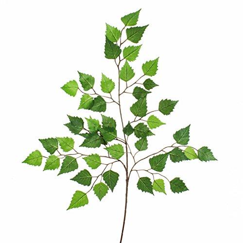 Ramo di betulla artificiale, 3 rami, 50 foglie verdi, 70 cm - Ramo con foglie / Betulla ornamentale - artplants