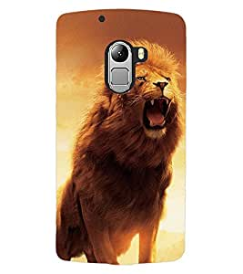 ColourCraft Roaring Lion Design Back Case Cover for LENOVO VIBE K4 NOTE