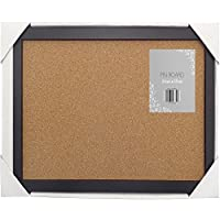 """Beamfeature Cork Noticeboard Pinboard With a Black Frame 21cm x 37cm 8"""" x 15"""" (Black)"""