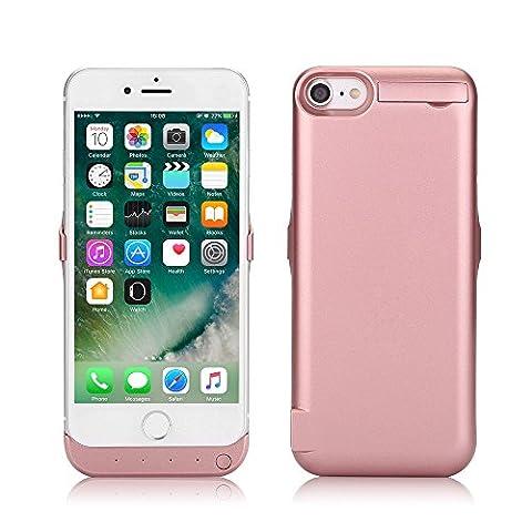 Zogin Ultra Fin Coque Batterie Externe 10000mAh pour iphone 7 - 4.7 pouces Haute Capacité Power Case Etui Housse Batterie de Secours Rechargeable Coque Chargeur de Protection - Rose