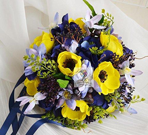 Yxhflo Emulation Blume Blumen Hochzeit Kunst Brautsträuße Hand Fenzlii Clematite Uniteds Graue Pappteller Und Servietten