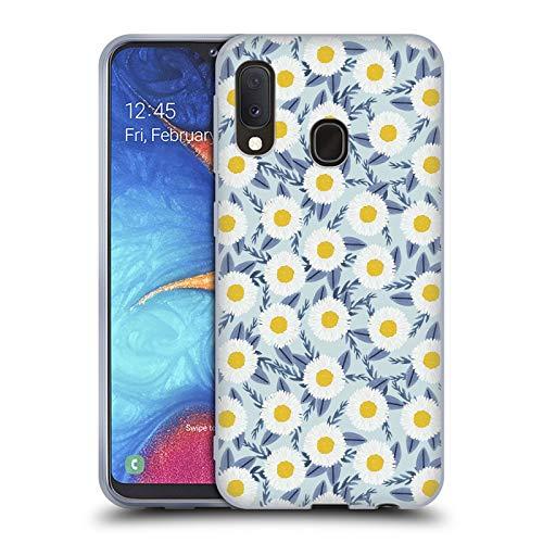 Charlottes Garten (Head Case Designs Offizielle Charlotte Winter Gänseblümchen Garten Blau Blumig Soft Gel Huelle kompatibel mit Samsung Galaxy A20e (2019))