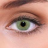 """Stark deckende natürliche graue Kontaktlinsen farbig """"Solid Grey"""" + Behälter von LENZOTICA I 1 Paar (2 Stück) I DIA 14.00 I ohne Stärke I 0.00 Dioptrien"""