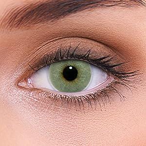 """Stark deckende natürliche graue Kontaktlinsen farbig """"Solid Grey"""" + Behälter von LENZOTICA I 1 Paar (2 Stück) I DIA 14.00 I ohne und mit Stärke"""
