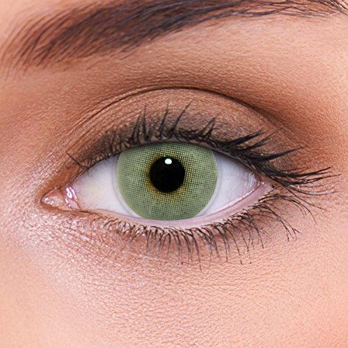 """Stark deckende natürliche graue Kontaktlinsen farbig """"Solid Grey"""" + Behälter von LENZOTICA I 1 Paar (2 Stück) I DIA 14.00 I ohne Stärke I 0.00 Dioptrien (Neuheit Kontaktlinsen)"""