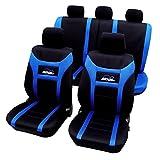 Woltu Universal Schonbezüge / Sitzbezüge / Sitzschutz Super Speed 11tlg. Blau/Schwarz