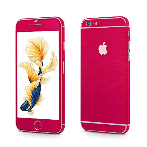 Apple iPhone 6, 6s Sticker OKCS® Skin Folie Full Body Wrap Aufkleber Schutzfolie Protector in Metallic Design Wonder Woman Pink