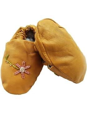 Baby Indianer-Mokassins Indianer-Schuhe Lederschuhe Krabbelschuhe Lederpuschen