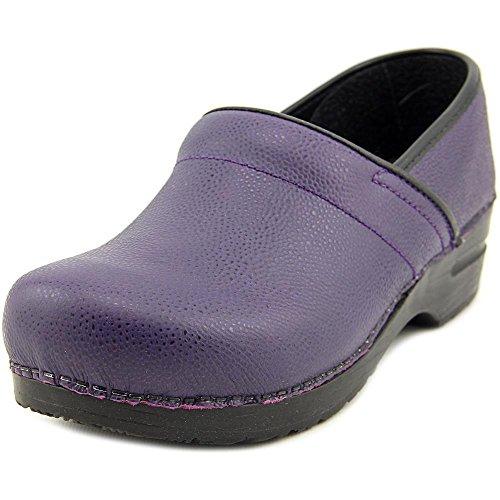 Sanita Prof. Hillary Cuir Sabots purple