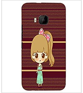PrintDhaba Cute Doll D-3799 Back Case Cover for HTC ONE M9 (Multi-Coloured)