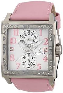 Reloj Festina F16570/2 de cuarzo para mujer con correa de acero inoxidable, color rosa de Festina