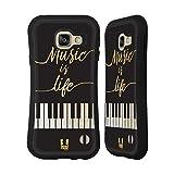 Head Case Designs Leben Piano Musik Kunst Hybrid Hülle für Samsung Galaxy A3 (2016)