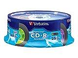 Verbatim CD-R 80Min 52x mit Digital Vinyl Oberfläche–10PK Slim Case 94439 25 Discs - Spindle