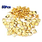 Best SODIAL(R) Rivets - SODIAL(R) 50 Set Gold Square Pyramid Spike Rivet Review