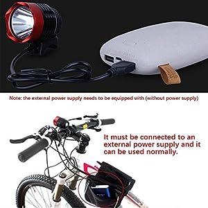 3 Mode LED Scheinwerfer Scheinwerfer,Nourich 3000 Lumen XML T6 USB Schnittstelle Fahrradbeleuchtung Fahrradlicht, Fahrradleuchte, Fahrradlampe, Aufladbare Fahrradlichter Camping