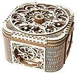 XUELIZHOU Wooden Mechanical Transmission Model Treasure Box Hand-Assembled Toys