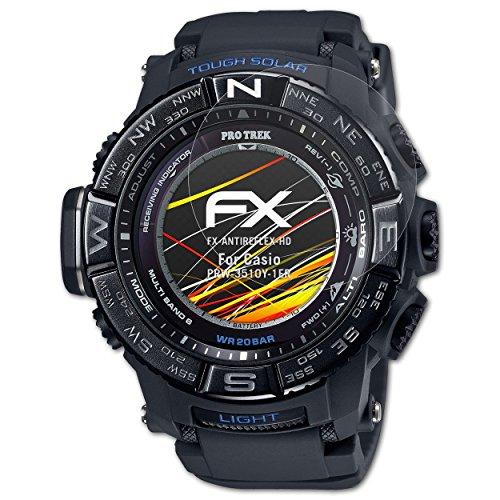 atFoliX Protector Película para Casio PRW-3510Y-1ER Lámina Protectora de Pantalla, Revestimiento antirreflejos HD FX Protección de Pantalla (3X)