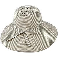 Leisial Cappello Estivo Femminile Cappello A Strisce Cappello Pieghevole  Cappello Anti-UV Cappello del Pescatore 0cf73238b898