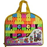 Multicolor Building Blocks Toy For Kids (Age 2+) Best Gift Toy With A Packing Bag (Set Of 100Pcs)
