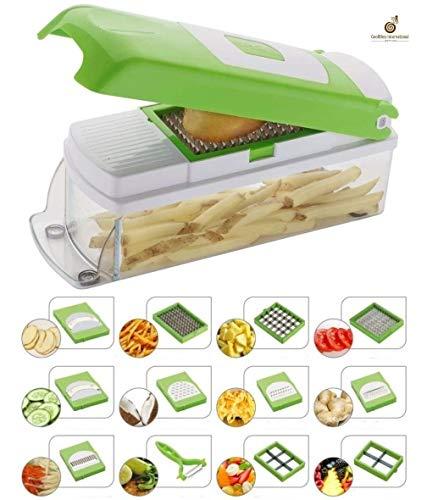 GOODNESS INTERNATIONAL Multipurpose Vegetable and Fruit Chopper Cutter Grater Slicer (Multicolour)
