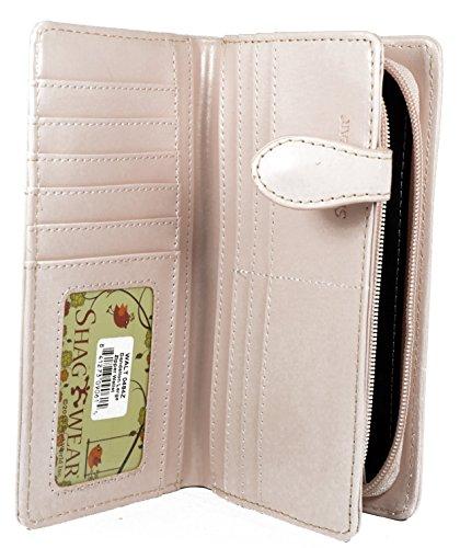 Shagwear portafoglio per giovani donne , Large Purse : Diversi colori e design : Dente di leone rosa/ Dandelion