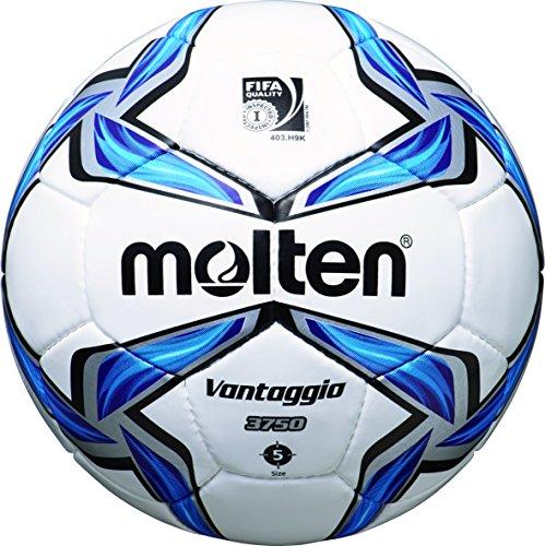 molten Fußball F5V3750, Weiß/Blau/Silber, 5, F5V3750