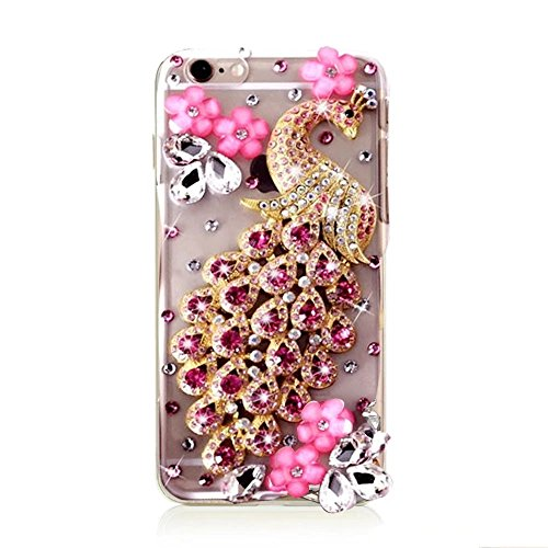 MOMDAD TPU Soft Etui pour iPhone 6S Plus Strass Coque iPhone 6 Plus TPU Silicone Coque iPhone 6 Plus Souple Etui pour iPhone 6 Plus/ 6S Plus 5.5 Pouces Anti-rayures et Anti-Choc Couverture Coquille Ar TPU-Strass-2
