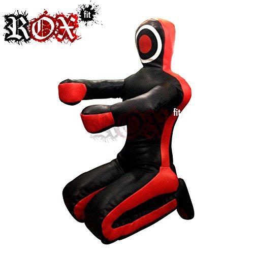 ROX Fit Grappling Dummy Brazilaian JiuJistsu Training Bag Black Red, schwarz/rot, 6 Foot (72