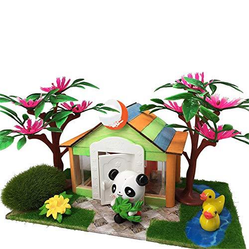 Miniaturhaus für Puppenhäuser, Modèle de Cabine en Bois Bricolage modèle tridimensionnel Blocs Jouets pour Enfants de la Maternelle Ont assemblé Cadeau à la Main Cadeau créatif pour garçons et Filles par Gimitunus