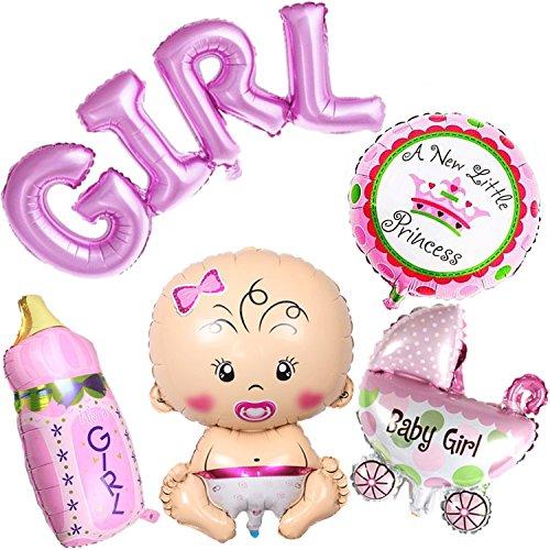 umballon Baby Folienballon Babyshower Babyparty Party und Dekoration (Mädchen) ()