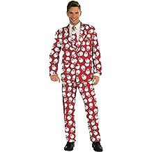 Forum Novelties Men's Plus Size Santa Suit Costume, Multi, (Plus Size Di Santa Suit)