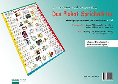 (Plakat Sprichwörter: Übungsheft und 1 Plakat (Lernplakate))