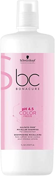 Schwarzkopf Professional Bonacure pH4.5 Color Freeze Shampoo, 1L