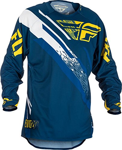 Fly Racing Evolution 2.0 MX / MTB Hemd, navy-gelb-weiß, Größe: XL, Motocross Jersey Mountainbike Trikot Downhill