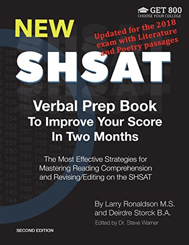 New Shsat Verbal Prep Book to Improve Your Score in Two Months: The Most Effective Strategies for Mastering Reading Comprehension and Revising/Editing on the Shsat