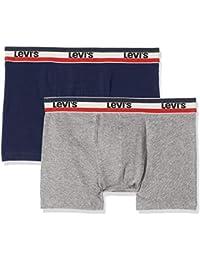 Levi's Herren Boxershorts SPRTSWR Logo Color Boxer Brief, 2er Pack
