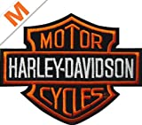 Harley-Davidson Aufnäher B&S Orange klein - EMB302382