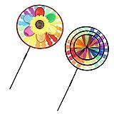 MagiDeal 2 Sets DIY Windmühle Magic Wheel Windrad Windräder Haus Garten Hof Dekoration